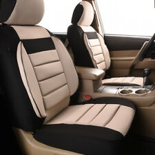 Universal 2 Front Car Seat Covers Black Beige Soft Sofa For Ford Hyundai Toyota