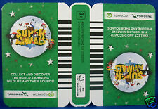 WOOLWORTHS TARONGA Super Animals GREEN Collector Card NEW (Un-opened) ~ in Aust