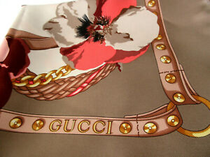 NEW Gucci 421067 Panshie Blooms silk scarf NEW WITH TAGS