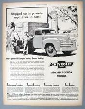Original 1950 Chevrolet Truck Ad STEPPED UP IN POWER....KEPT DOWN IN COSTS