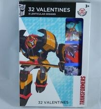 32 Count Transformers Lenticular Valentines Day Cards School Classroom Party