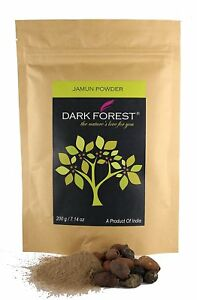 Dark Forest Jamun(Java Plum) powder - 200g-100% Pure and Natural-Herbal powder