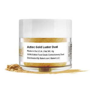 Bakell® 4g Aztec Gold Edible Pearlized Luster Dust