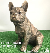 More details for leonardo bronzed frenchie french bulldog ornament figurine decoration gift boxed