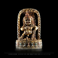 Antique Tibetan buddhism black Jambhala buddha statue wealth god dzambala deity