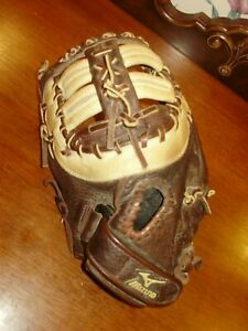 "MIZUNO FRANCHISE SERIES 12.5"" FIRST BASEMANS BB MITT LHT SUPERIOR CONDITION!!"