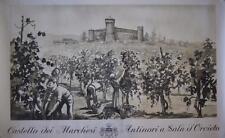 Vintage Castello dei Marchesi Antinori a Sala d'Orvieto Print or Poster SS173