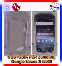 Pellicola+Custodia S-WAVE CLEAR per Samsung I9020 Nexus S (B4)