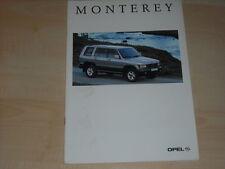 41031) Opel Monterey Prospekt 08/1995