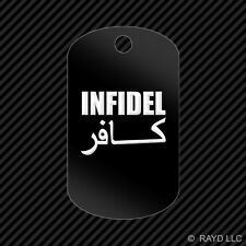 Infidel Keychain GI dog tag engraved many colors