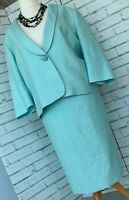 EASTEX Mint Green Skirt & Jacket Suit Sz 22 UK Special Occasion Mother of Bride