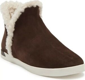 Vince-Val B Faux Shearling Lined Ankle Boot-Color:Otter Grey-Women's Size 10-New