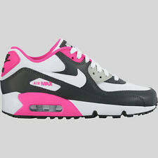 NIKE AIR MAX 90 MESH GIRLS ANTHRACITE WHITE-HYPER PINK SIZE 6Y (US) BRAND NEW