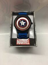 Marvel Captain America Men's Rubber Strap Watch