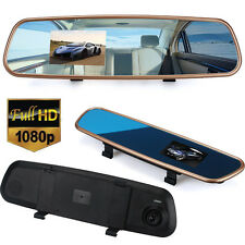 HD 3.2 inch Rearview Mirror Driving Recorder  Dash Camera DVR Cam Video Recorder