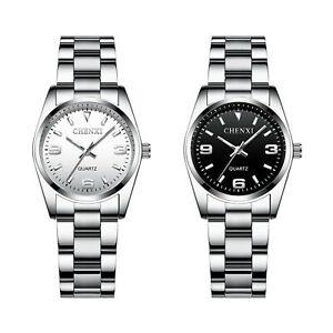 Womens Luminous Waterproof Watch Stainless Steel Quartz Digital Wrist Watch Gift