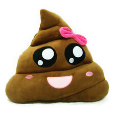 "14"" Amusing Poop Poo Shape Emoji Cushion Stuffed Pillow Kids Funny Plush Toys"