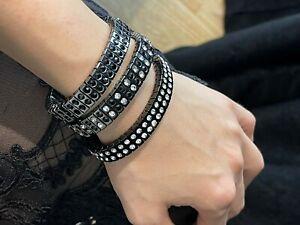 3 Designer SWAROVSKI DIAMOND Bracelets Bangle Her Stack Jewelry Set Gift 4ct