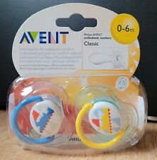 Philips Avent Baby Orthodontic Soother Dummy 0-6m BPA Free Boys