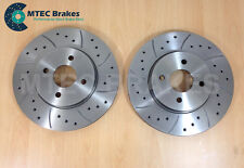 FORD FOCUS ST170 NEW FRONT Drilled Grooved Brake Discs