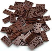 5 New LEGO Reddish Brown 4x4 Plates 3031 flat panel floor dirt city star wars