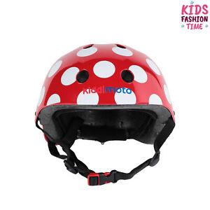 KIDDIMOTO Helmet Size M 400 Gr Two Tone Polka Dot Adjustable Fitting