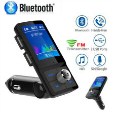 Wireless Bluetooth Two USB In-Car Charger Kit FM Transmitter Handsfree Large LCD