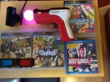 Sony Playstation Shoots y zombies y Just Dance 3 y 4 mover y Cámara ps3