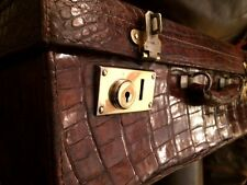 Genuine Crocodile Suitcase Excellent Antique