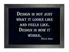 Steve Jobs Quote 8 Design Is How It Works Poster Motivational Inspirational