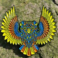 Wise Owl spirit animal pin - owls phish disco biscuits lsd edm grateful dead co