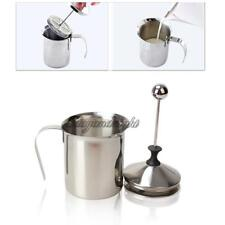 800mL Stainless Steel Manual Milk Frother Cappuccino Creamer Foam Double Mesh