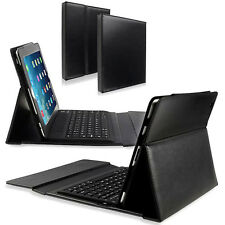 NEW Luxury Bluetooth Silicone Keyboard Stand Leather Case Cover For iPad Air 2
