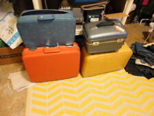 Vintage ORANGE SALMON OSHKOSH CARRY ON SUITCASE