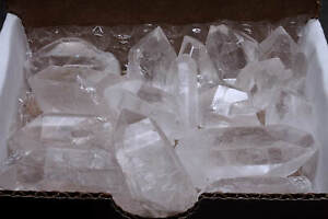 Quartz Crystal Collection 1/2 Lb Natural Clear Points Brazil