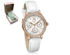 *REDUCED* Rotary LS03075/06 Ladies Watch Multi Dial White Leather Strap RRP £80