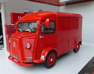 1:27 1:24 Scale Citroen H Type Van Diecast Detailed Model 1947-81 Red Welly LGB