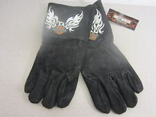 Harley Davidson Welding / Work Gloves Flaming  White Eagle Size L   NOS