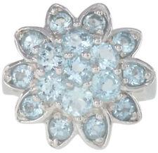 Topaz Cluster Natural Sterling Silver Fine Rings