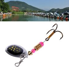 5pcs 2.2g 6cm Metal Fishing Lure Hook Spinner Spoon Lures Rotating Sequin Bait