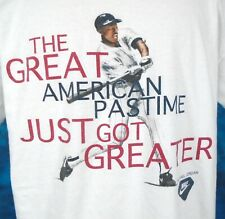 vtg 90s NIKE GRAY TAG MICHAEL JORDAN BASEBALL BABE RUTH T-Shirt LARGE hip hop