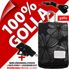 Golla Nero Telefono Cellulare Custodia Borsa Per iPhone 4 S 5 C 5 S se Samsung Galaxy S4 MINI
