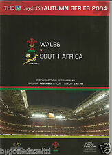 Wales v South Africa The LLoyds Autumn Series 2004  Rugby Programme