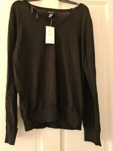 Ladies New Look black V neck jumper size UK 12 BNWT