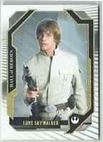 Star Wars Masterwork 2017 Canvas Hall of Heroes Card HH-1 Luke Skywalker #05/99