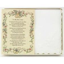 From the Bride to her Aunt Wedding Handkerchief