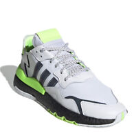 Adidas Originals Nite Jogger White Signal Green Running Shoes Men's Sz 8 EG6749