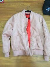 Killion Pink Suede Bomber Jacket FOG Zip Medium M