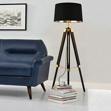 [lux.pro] Stehleuchte Stativ Stehlampe Standleuchte Stand Lampe Metall Schwarz