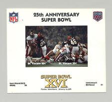 St Vincent #1415  Football Super Bowl XVI 1v M/S of 2 Imperf Chromalin Proof